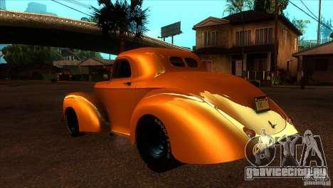 Americar Willys 1941 для GTA San Andreas вид сзади слева
