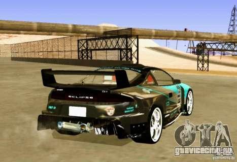 Mitsubishi Eclipse Elite для GTA San Andreas вид сзади слева