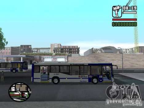 Busscar Urbanuss Ecoss MB 0500U Sambaiba для GTA San Andreas вид сзади