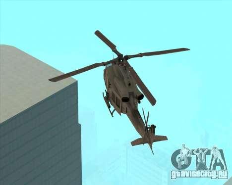 UH-1 Iroquois для GTA San Andreas вид сзади слева