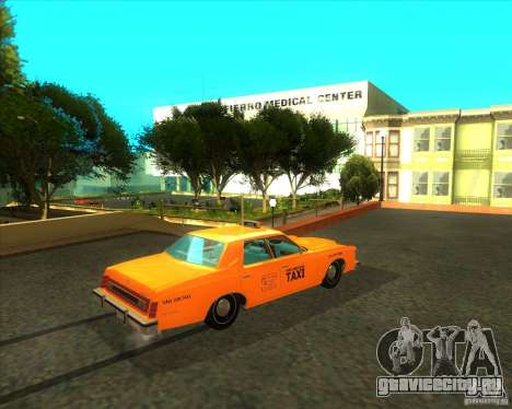 Ford Custom 500 4 door taxi 1975 для GTA San Andreas вид сзади