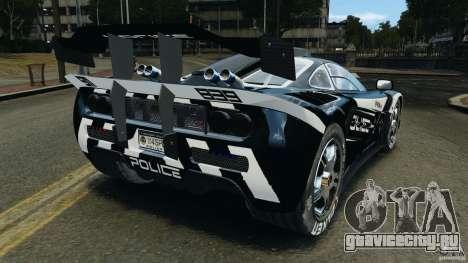 McLaren F1 ELITE Police [ELS] для GTA 4 вид сзади слева