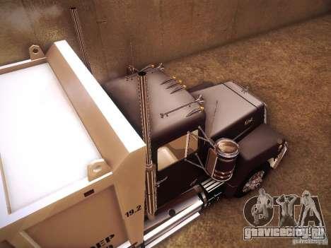 Mack RS700 1970 Trashmaster для GTA San Andreas вид сзади
