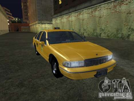 Chevrolet Caprice 1993 Taxi для GTA San Andreas