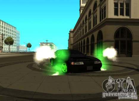 Elegy Green Drift для GTA San Andreas вид слева