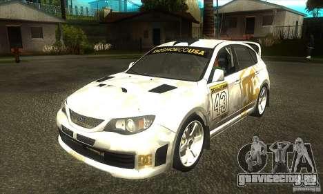 Subaru Impreza WRX STi DC Shoes из DIRT 2 для GTA San Andreas