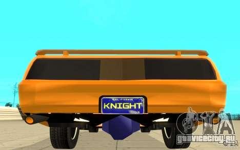 Pontiac Firebird 1989 K.I.T.T. для GTA San Andreas вид сзади