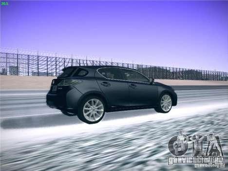 Lexus CT200H 2012 для GTA San Andreas вид изнутри