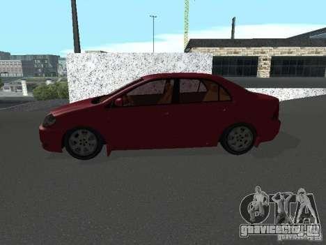Toyota Corolla Sedan для GTA San Andreas вид слева