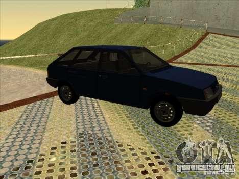 Ваз 2109 Сток V2 для GTA San Andreas вид сзади слева