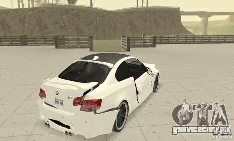 BMW M3 2008 Hamann v1.2 для GTA San Andreas вид снизу