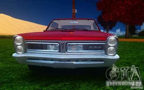 Pontiac GTO 1965 FINAL для GTA 4 вид сверху