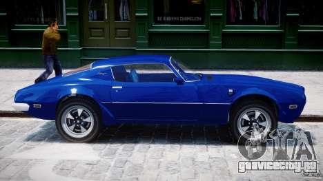 Pontiac Firebird Esprit 1971 для GTA 4 вид снизу