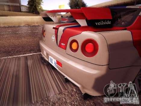 Nissan Skyline full tune для GTA San Andreas вид справа