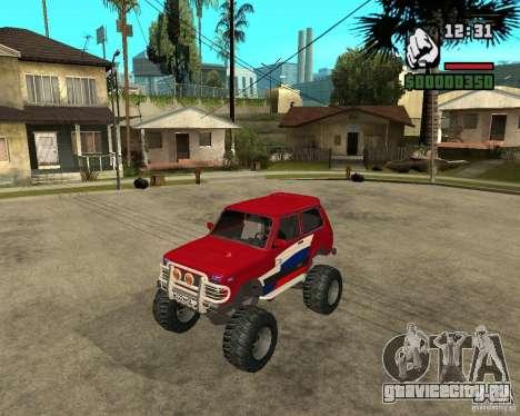 VAZ-21213 4x4 Monster для GTA San Andreas вид сзади слева