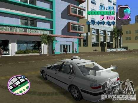 Peugeot 406 Taxi для GTA Vice City вид слева