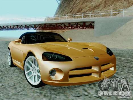 Dodge Viper SRT-10 Roadster для GTA San Andreas вид сзади