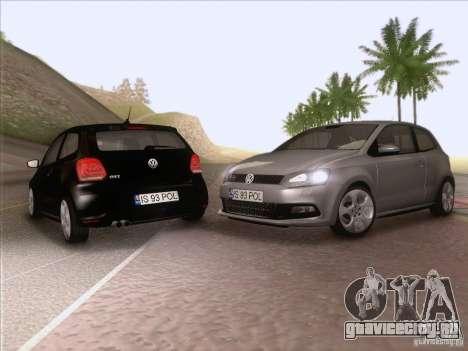 Volkswagen Polo GTI 2011 для GTA San Andreas вид сбоку