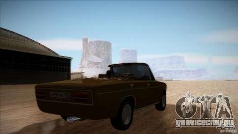 ВАЗ 2103 Кабриолет для GTA San Andreas вид изнутри