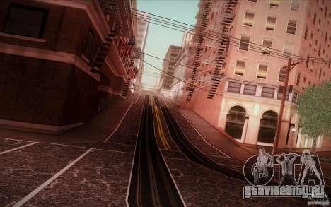New roads San Fierro для GTA San Andreas четвёртый скриншот