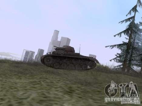 PzKpfw II Ausf.A для GTA San Andreas вид слева
