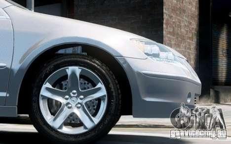 Acura RL 2006 для GTA 4 вид сзади