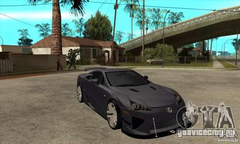 Lexus LFA 2010 v2 для GTA San Andreas вид сзади