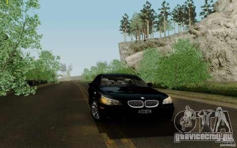 BMW M5 2009 для GTA San Andreas вид изнутри