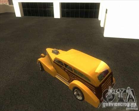 Custom Woody Hot Rod для GTA San Andreas вид сбоку
