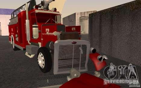 Peterbilt 379 Fire Truck ver.1.0 для GTA San Andreas вид сбоку