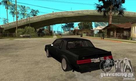 Buick Regal Grand National GNX для GTA San Andreas вид сзади слева