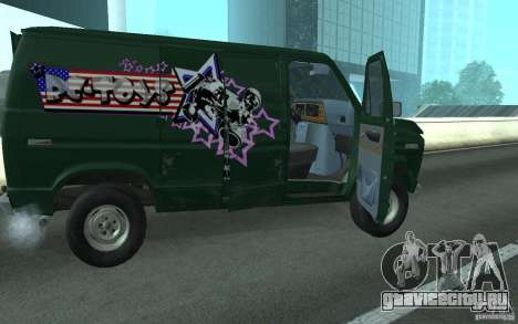 Ford E-150 Short Version v3 для GTA San Andreas вид сзади слева