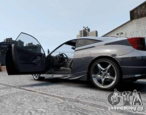 Toyota Celica для GTA 4 вид сзади слева