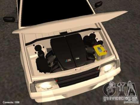 ВАЗ 2109 Turbo для GTA San Andreas вид сверху