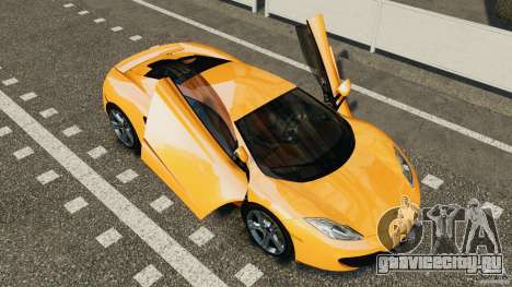 McLaren MP4-12C v1.0 [EPM] для GTA 4 вид сзади