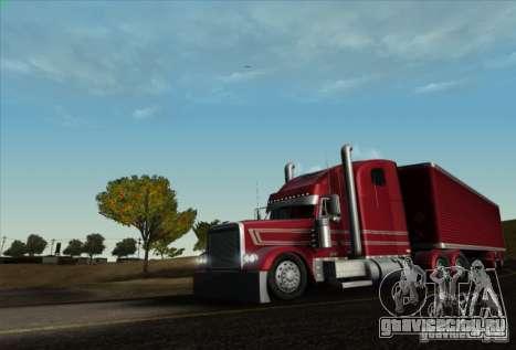 Прицеп для Freightliner Classic XL Custom для GTA San Andreas вид сзади слева