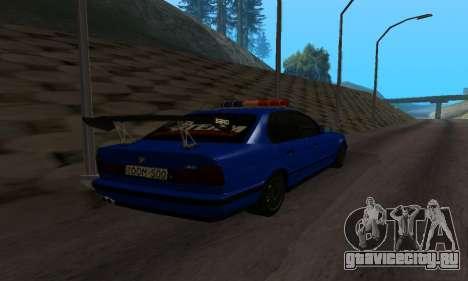 BMW M5 POLICE для GTA San Andreas вид сзади слева