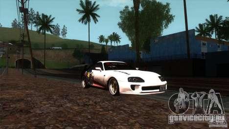 Toyota Supra RZ для GTA San Andreas вид сзади