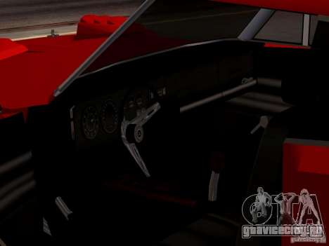 Dodge Charger Daytona 440 для GTA San Andreas вид сзади