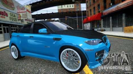 BMW Х6 Hamann для GTA 4 вид изнутри