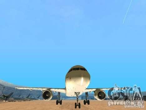 Airbus A320 Air France для GTA San Andreas вид сзади