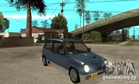 Suzuki Alto Works для GTA San Andreas вид сзади