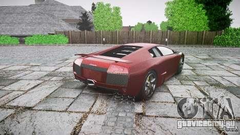 Lamborghini Murcielago v1.0b для GTA 4 вид сзади слева