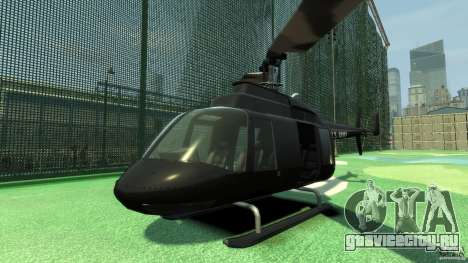 Black U.S. ARMY Helicopter v0.2 для GTA 4 вид слева