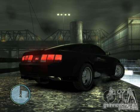 Ford Mustang GT для GTA 4 вид сзади слева