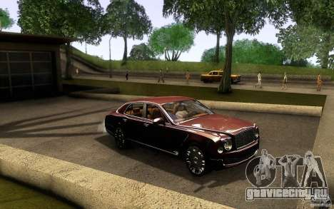 Bentley Mulsanne 2010 v1.0 для GTA San Andreas вид изнутри