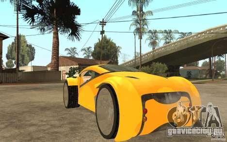 Lexus Concept 2045 для GTA San Andreas вид сзади слева