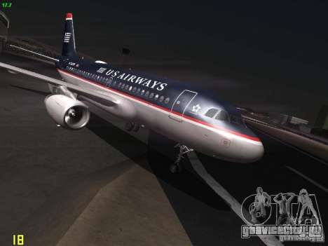 Airbus A319 USAirways для GTA San Andreas
