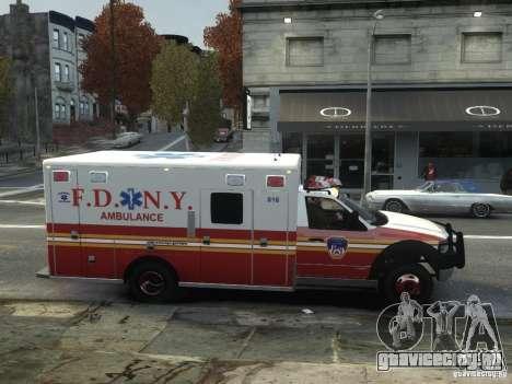Ford F-350 Ambulance FDNY для GTA 4 вид сзади