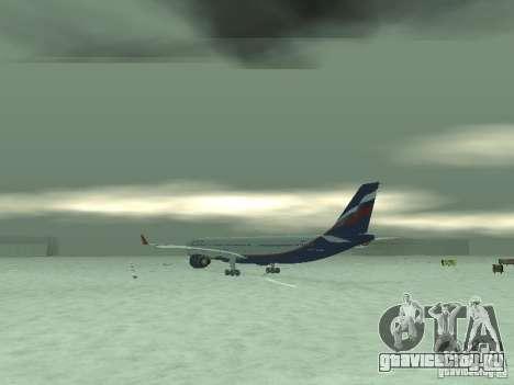 Airbus A330-300 Аeroflot для GTA San Andreas вид справа